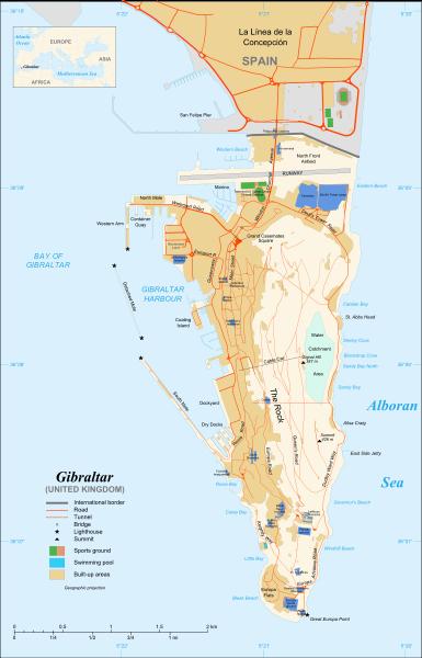 Gibraltāra karte