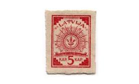 Pirmā Latvijas pastmarka