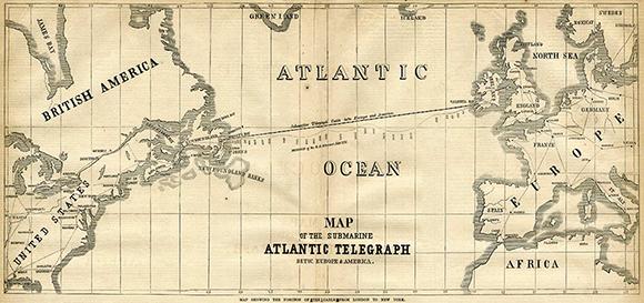 Transatlantijas kabeļa karte