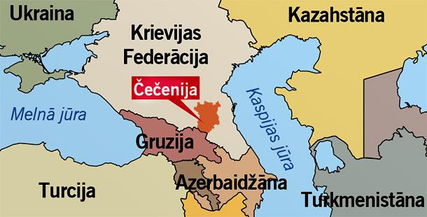 Čečenijas karte | Neogeo.lv