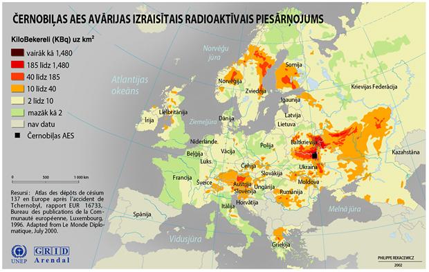 Černobiļas AES avārijas izraisītais radiaktīvais piesārņojums