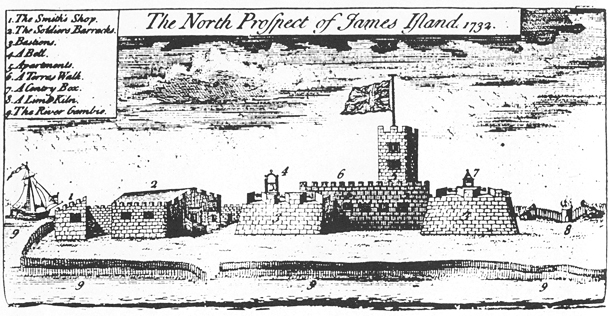 Džeimsa forts 1732. gadā