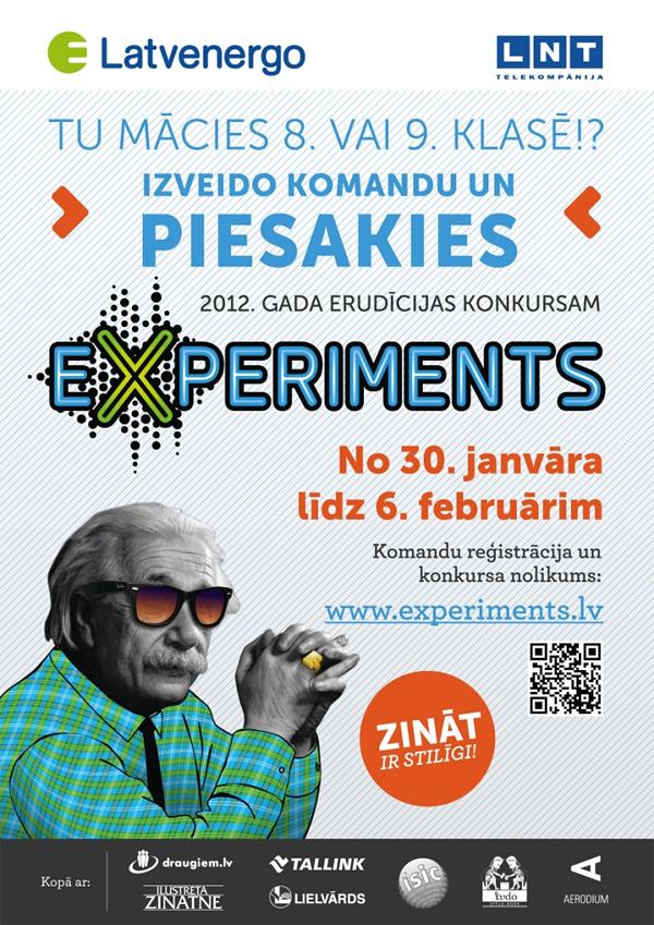 """erudīcijas konkurss """"eXperiments"""""""
