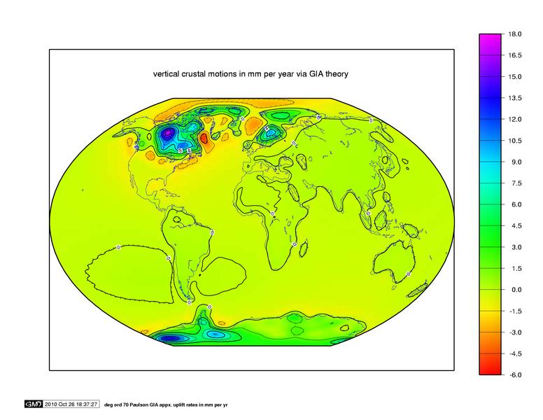 Globālais modelis glacioizostatiskām kustībām