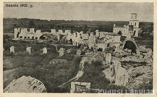 Sagrautā Ilūkste 1921. gadā