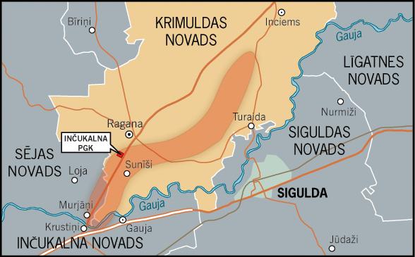 Inčukalna pazemes gāzes krātuves platības karte | Neogeo.lv