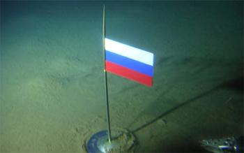 Krievijas karogs Arktikā