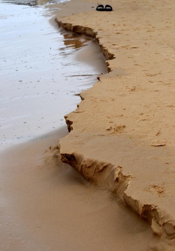 Latvijas krasta robeža jūrmalas smiltīs