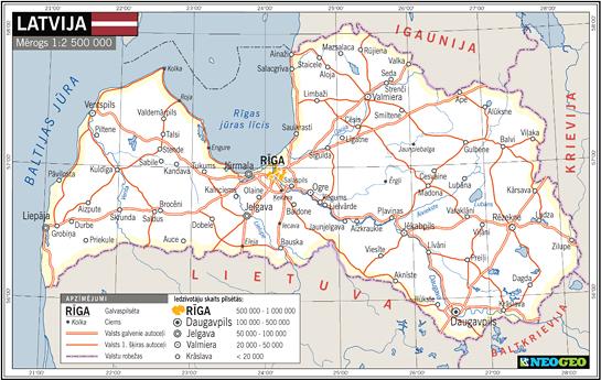 Latvijas karte | Neogeo.lv