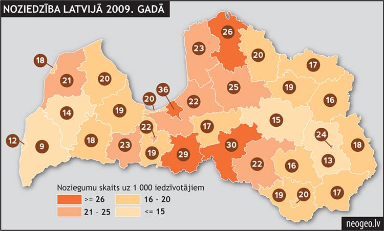 Noziedzība Latvijā 2009. gadā| Neogeo.lv
