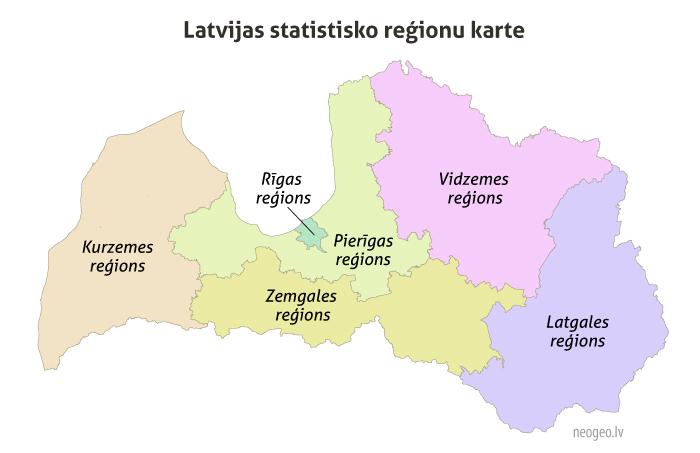 Latvijas statistiskie reģioni