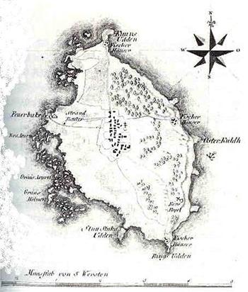 Roņu sala 1798. gada kartē