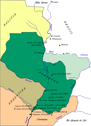 Paragvajas zaudētās teritorijas