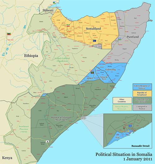 Somālijas karte | Neogeo.lv