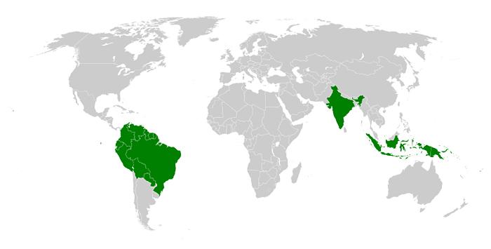 Valstis, kurās mīt nekontaktējošās tautas