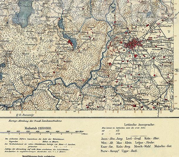 Vācu armijas ģenerālštāba karte